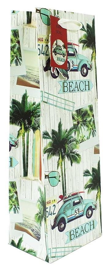 Para hombre Vintage para botella de vino bolsa de regalo playa papel de regalo presente embalaje