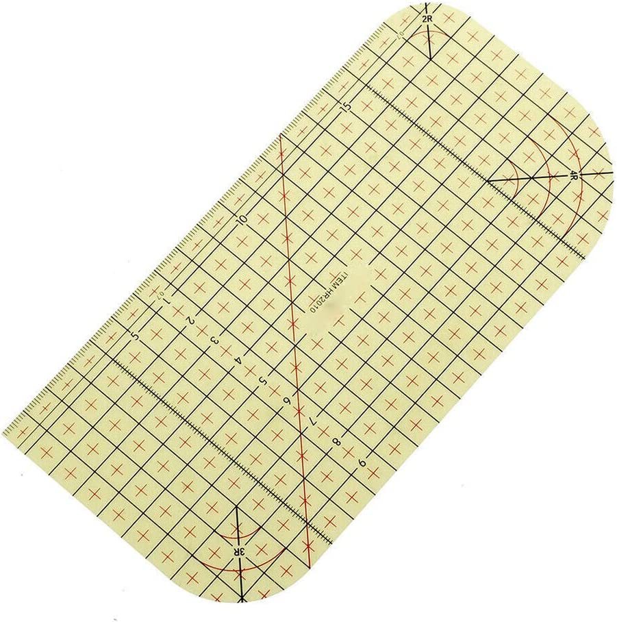 for Quilting Small Quilting Ruler DIY Sewing /& Crafts Hot Ironing Ruler Laser Cut Acrylic Quilters Ruler with Patented Double Colored Grid Lines for Easy Precision Cutting