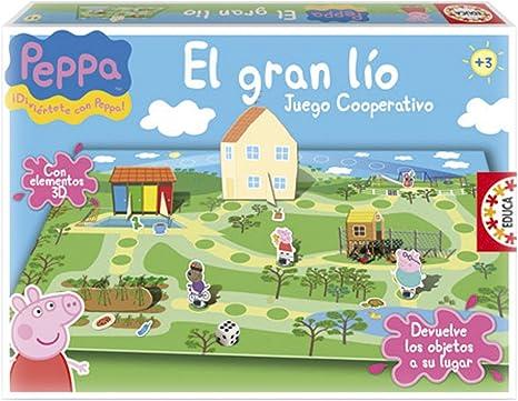 Educa Borrás Peppa Pig - El Gran lío, Juego de Mesa 15658: Amazon.es: Juguetes y juegos