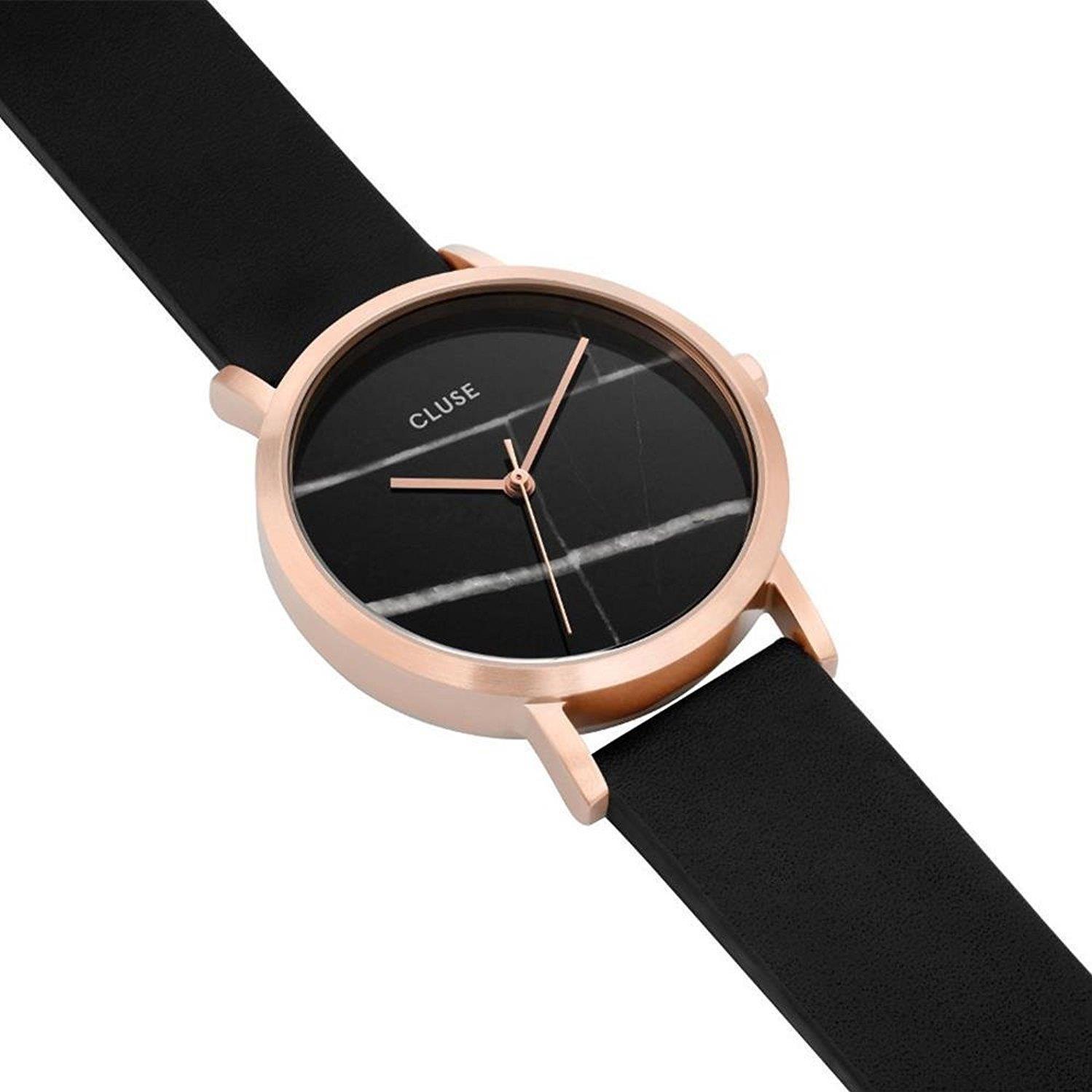 Amazon.com: CLUSE La Roche Petite Rose Gold Black Marble Black CL40104 Womens Watch 33mm Leather Strap Minimalistic Design Casual Dress Japanese Quartz: ...