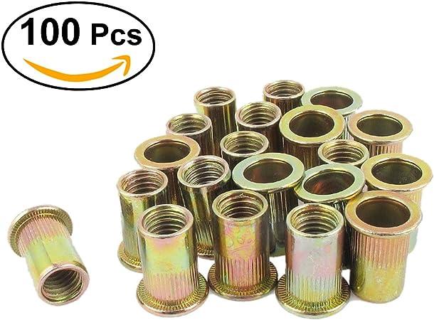 M4/M5/M6/M8 /Écrous /à riveter avec insert tige filet/é UEETEK en acier au carbone zinc argent/é 100/unit/és