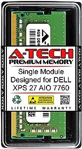 A-Tech 4GB RAM for DELL XPS 27 AIO 7760   DDR4 2400MHz SODIMM PC4-19200 260-Pin Non-ECC Memory Upgrade Module