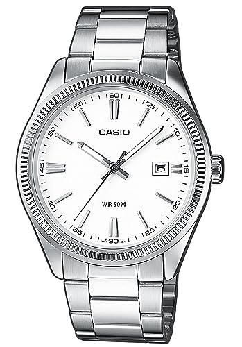 Casio Reloj Analogico para Hombre de Cuarzo con Correa en Acero Inoxidable MTP-1302PD-7A1VEF: Amazon.es: Relojes