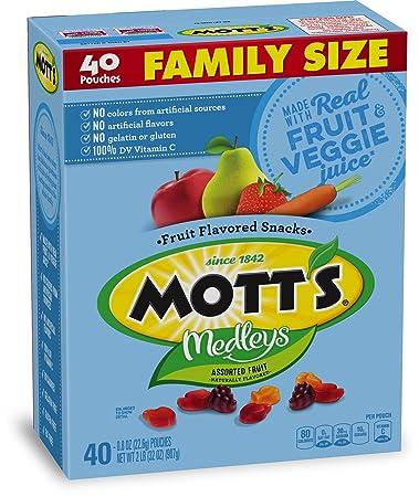 Astounding Motts Medleys Fruit Snacks Gluten Free Family Size 40 Pouches 0 8 Oz Uwap Interior Chair Design Uwaporg
