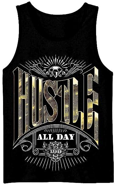f35bdd0246743 Amazon.com  MENS SHOP PRIVATE LABEL Hustle All Day Mens Tank Top ...