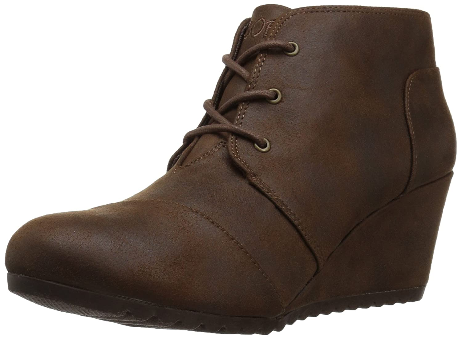 Brown Skechers Women's HIGH-Notes - Bell Kick Ankle Boots