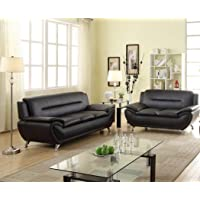 Platinum Modern Contemporary Luxury Faux Leather 3+2 Seater Full Sofa Set - 3 Colour Choices