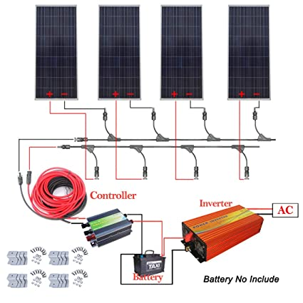 amazon com eco worthy 600w 12v off grid solar power system 4pcs rh amazon com