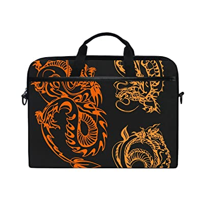 AHOMY Chinese Ancient Style Dragon 15 Inch Laptop Shoulder Sleeve Messenger Bag Case