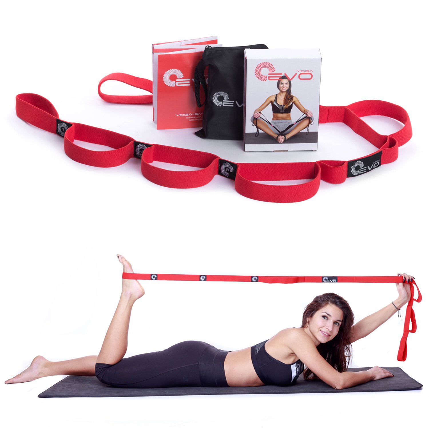 Yoga EVO Stretching Strap Pilates Workouts