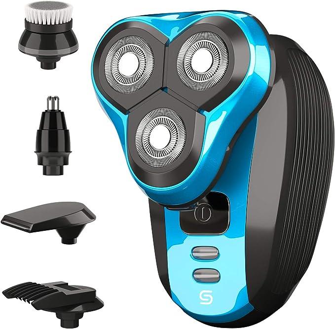 Scree Colt afeitadora eléctrica de cabeza giratoria 5 en 1 para ...
