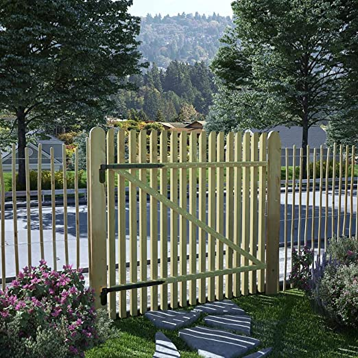 ghuanton Puerta de Valla de Postes Madera Pino impregnada FSC 100x100 cmBricolaje Vallas de jardín Puertas de jardín: Amazon.es: Hogar