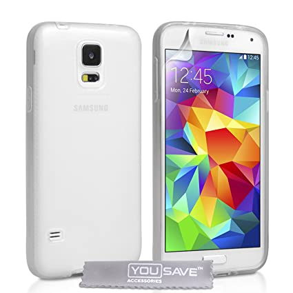 samsung galaxy s5 phone cases amazon. yousave accessories samsung galaxy s5 case clear silicone gel cover phone cases amazon a