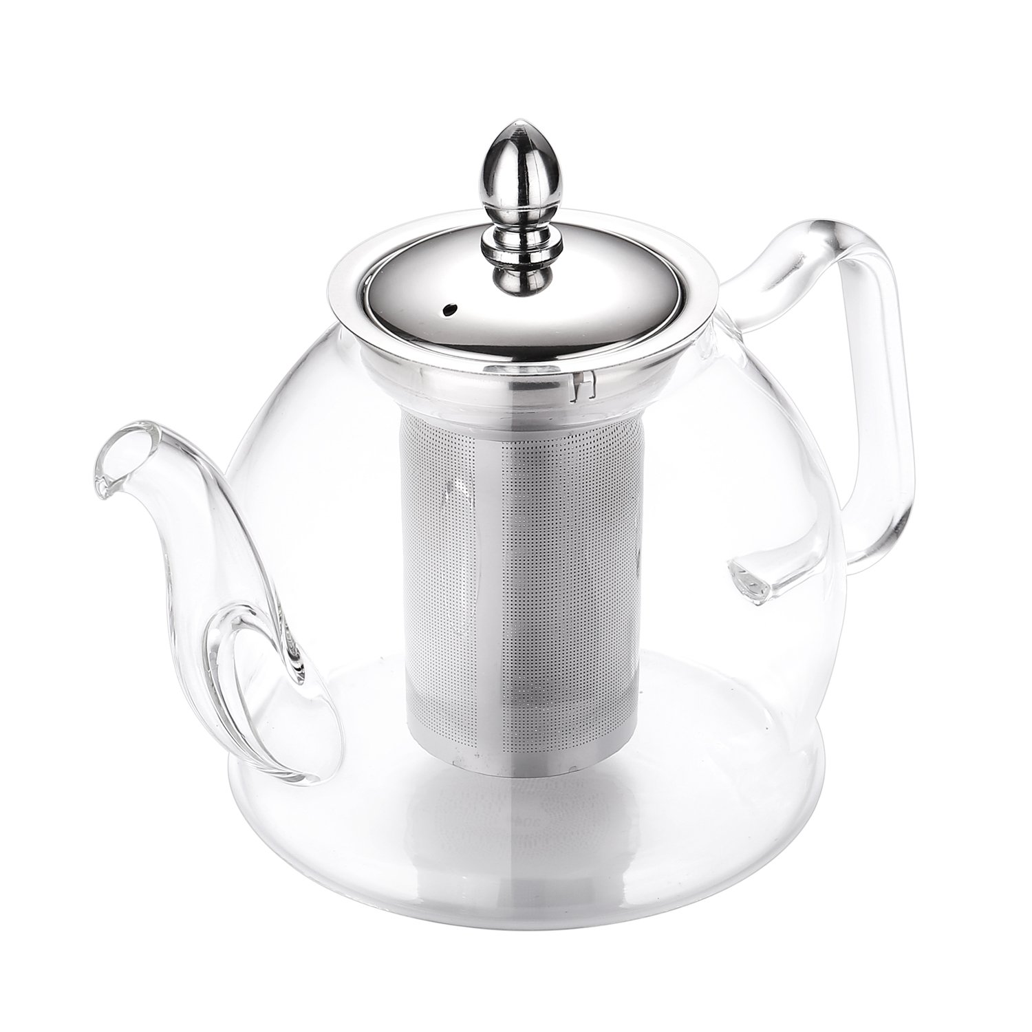 Hiware Teapot Set, 35 Oz Glass Teapot with Removable Infuser and Cups, Stovetop Safe Tea Kettle, Blooming and Loose Leaf Tea Maker Set by Hiware (Image #2)