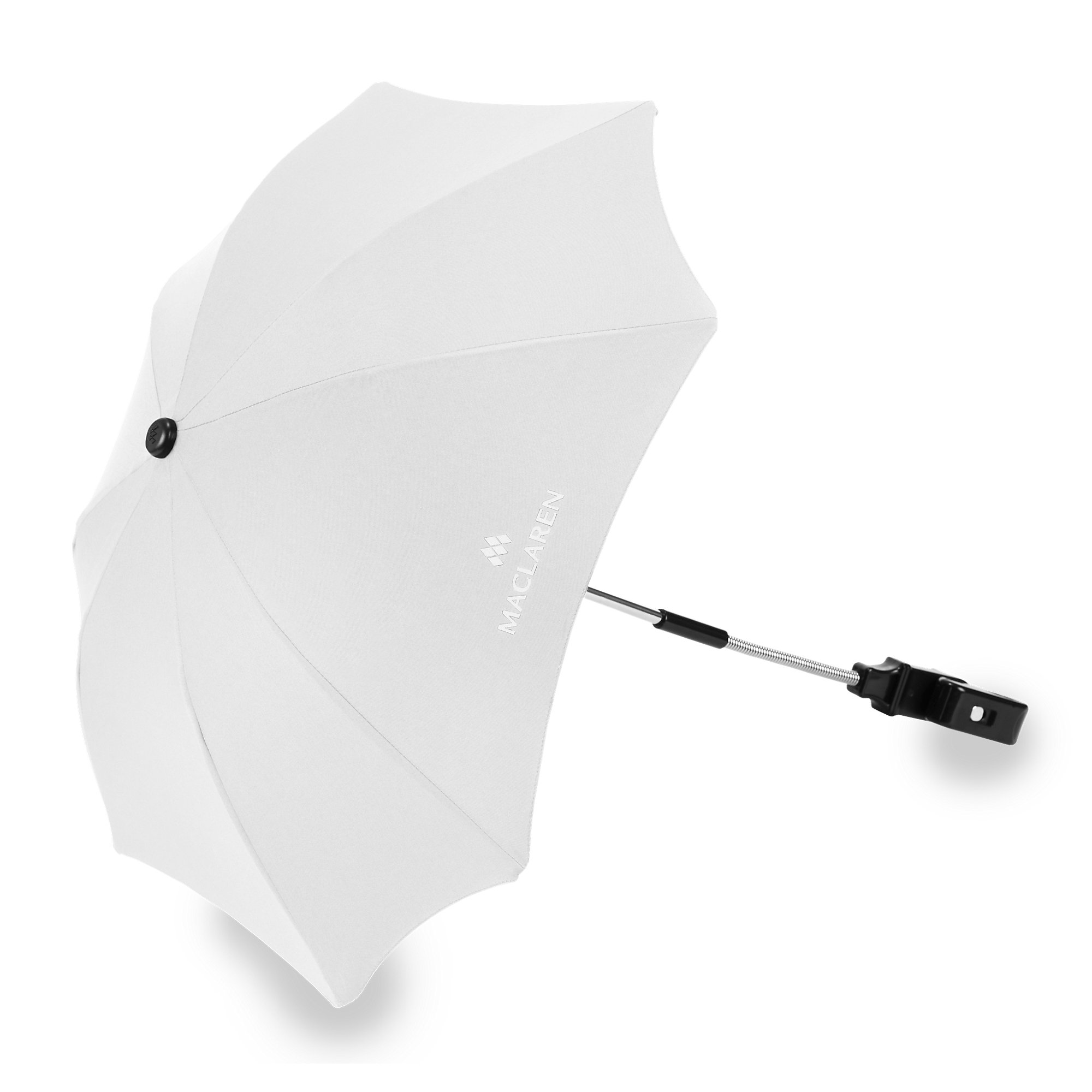 Maclaren Parasol, Black - Perfect Stroller Accessory to Guard Against The Sun's Harsh Rays. UPF 50+ sunshield Easily fastens to The Frame of All Maclarens and Most Umbrella-fold Stroller Brands by Maclaren