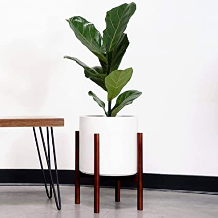 PEACH & PEBBLE Plant Stand with 10
