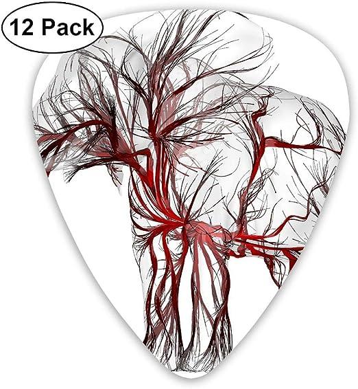 Kla Ju Paquete de 12 púas de Guitarra eléctrica clásicas para ...