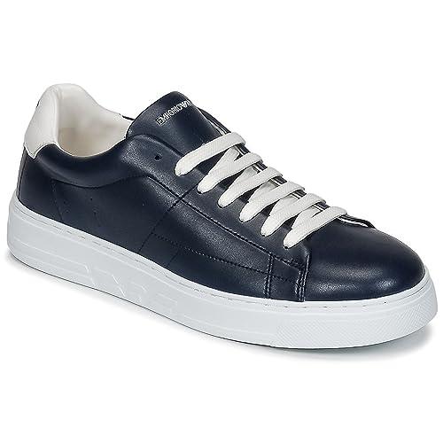 Emporio Armani Zapatillas Para Hombre Azul Size: 44.5 EU: Amazon.es: Zapatos y complementos