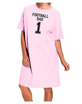 TooLoud Football Dad Jersey Adult Night Shirt Dress - Pink - One Size 7da593fb5