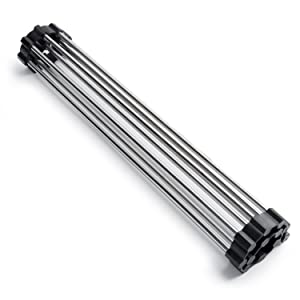 Sunblo Roll Up Dish Drying Rack, Stainless Steel Over The Sink Dish Drying Rack   Rollable, Foldable, and Easy to Store, 17W X13.5L(Black)