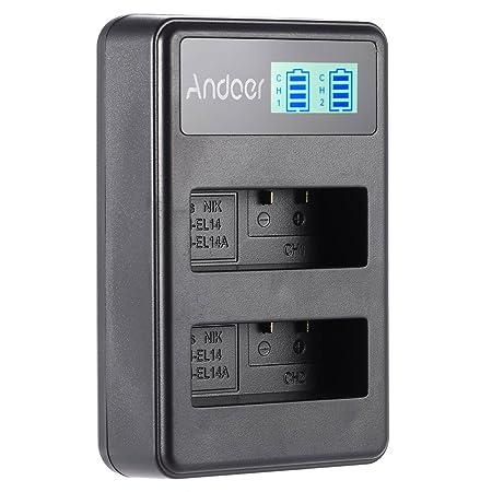 Docooler Andoer Charger LED Display for EN EL14 EN EL14A Rechargeable Li ion Battery Pack for Nikon DSLR Camera Batteries   Chargers