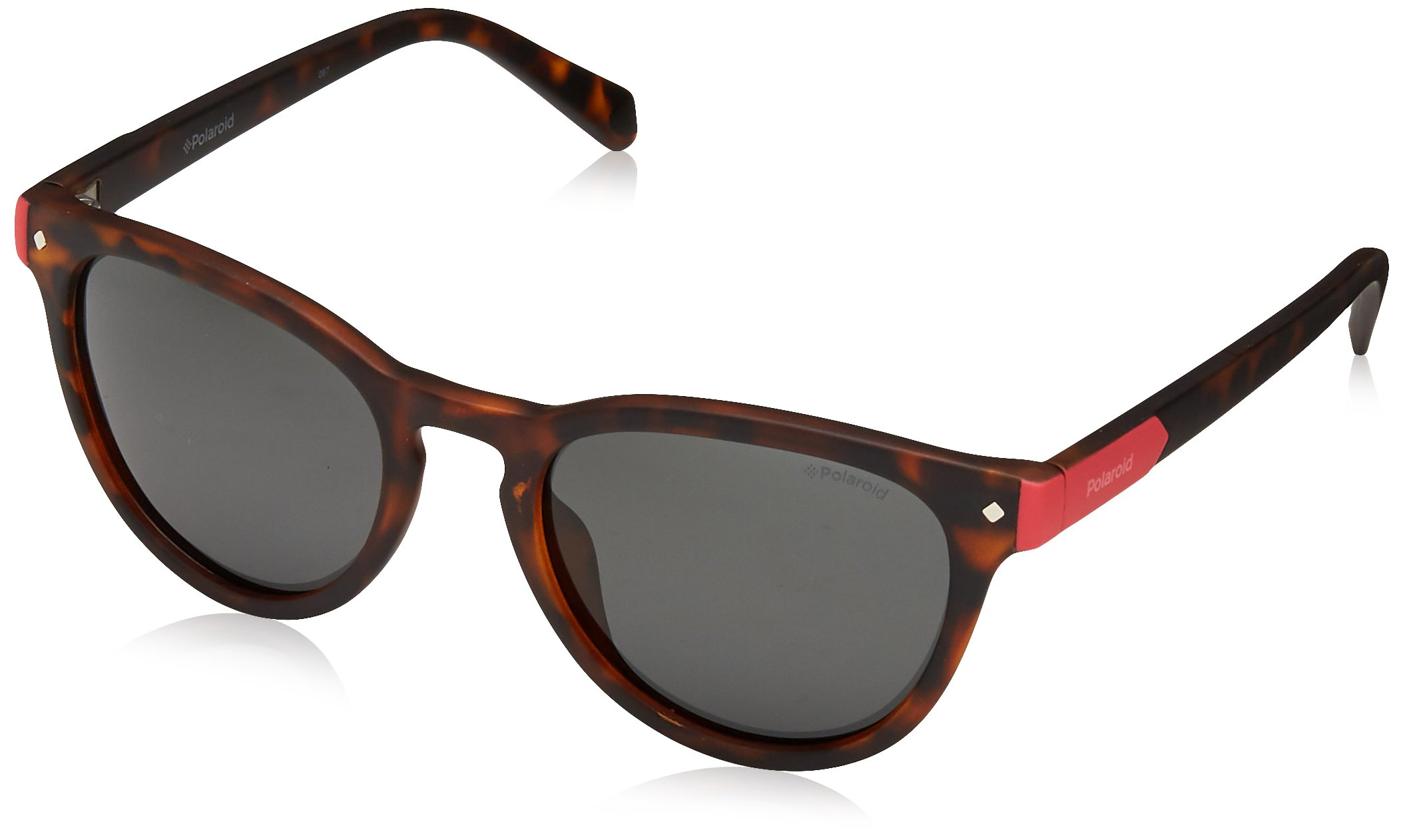 Polaroid Sunglasses Girls' Pld8026s Polarized Oval Sunglasses, DKHAVANA, 47 mm by Polaroid Sunglasses (Image #1)