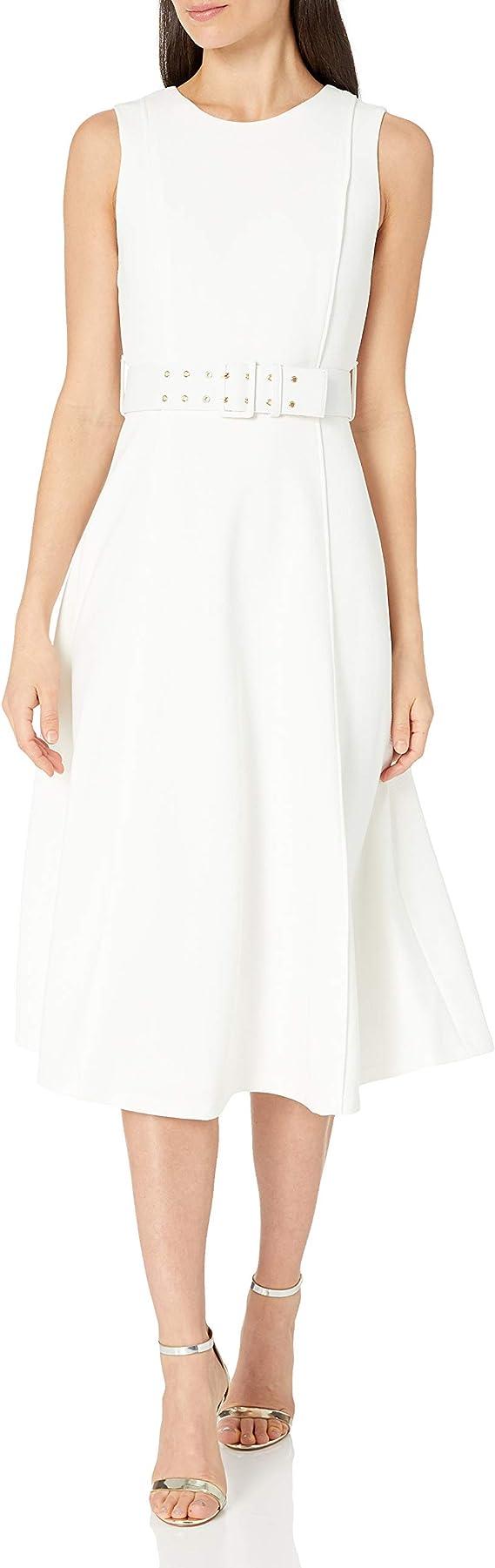 Calvin Klein 卡尔文克莱因 CK 无袖A字形连衣裙 配腰带 8码3.1折$42.46 海淘转运到手约¥318
