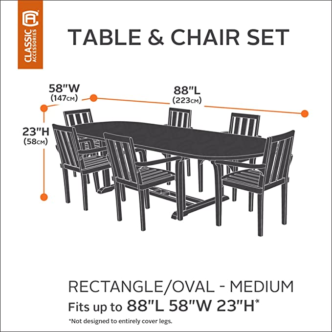 Amazon.com: Classic Accessories belltown rectangular/mesa de ...