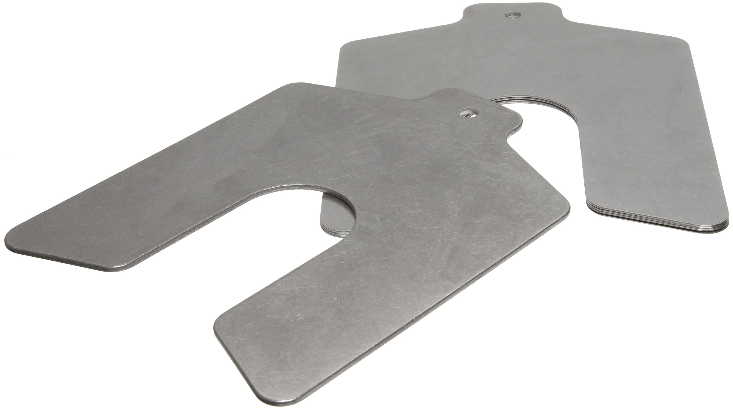 Stainless Steel Slotted Shim Shop Kit, Size C, 4'' x 4'' (Pack of 80) by Small Parts