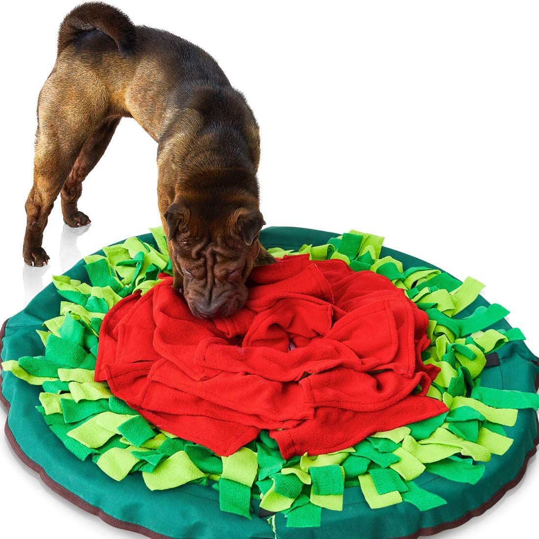 Sniffiz SmellyMatty Snuffle Mat for Dogs - Interactive Treat IQ Enrichment Toy/Large Nosework Blanket - Mind Stimulating Food Puzzle Games with Stress Relief for Boredom