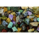 Hypnotic Gems Materials: 3 lbs (BEST VARIETY) of a 28 Stone Extraordinary Mix From Madagascar - 28 Different Stone Types in EVERY bag! Raw Natural Rough Rock Crystals for Tumbling, Cabbing, and More!