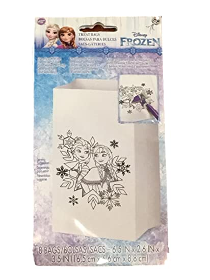 Amazon.com: Disney Frozen Elsa & Anna Color Me Paper Party ...