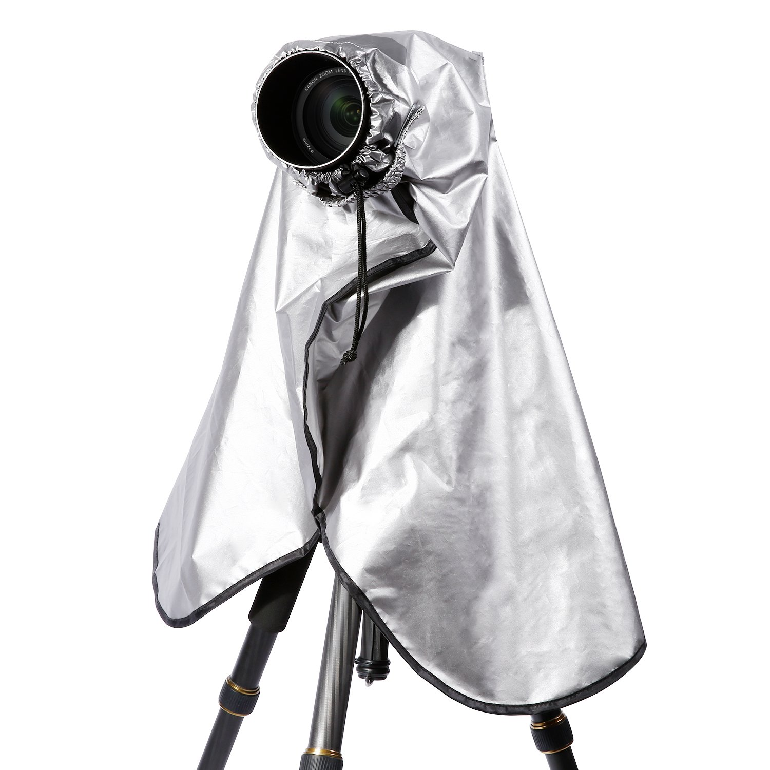 Neewer Extra-Long Waterproof Camera Rain Coat Rain Cover for Canon Nikon Sony and Other DSLR Cameras, Lens and Tripods (Metallic Gray) by Neewer