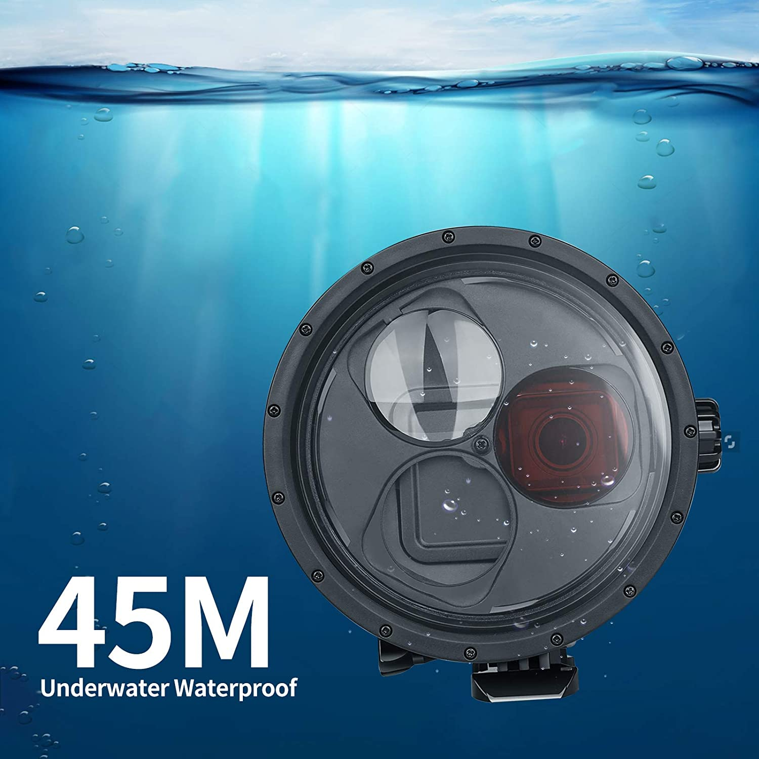 Alician for Gopro Hero 7//6//5 Waterproof Case Sports Camera Diving Protective Shell with Filter Photography Accessories Electronic Accessories