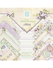 Papel de Papel de Carta Decorativo Papel Estampado patrón Paper de Flores Pack Scrapbooking Estampado Flores