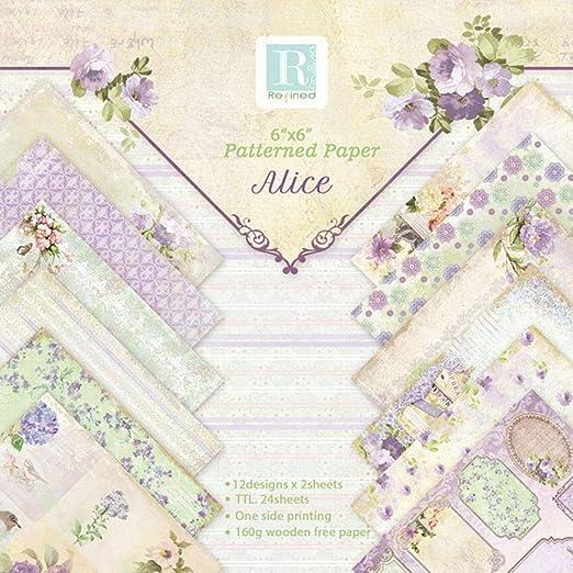 Papel Adhesivo para Muebles Decorativo 24 Hojas 6 Inch Papel ...
