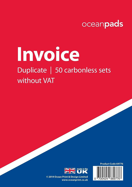 doppi fogli autoricalcanti senza indicazione IVA lingua italiana non garantita formato A5 dimensioni 148/mm x 210/mm Blocco fatture codice prodotto 69776