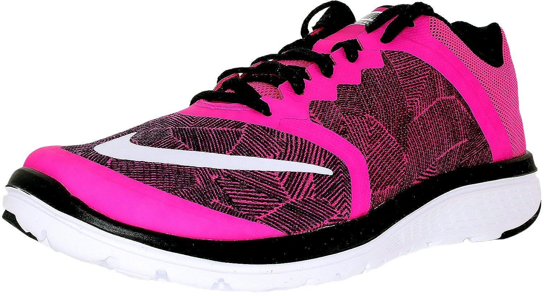 cb61a22616b8 Nike Women s FS Lite Run 3 Print Running Shoes-Pink Blast Blk White free  shipping.