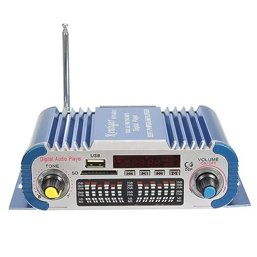 DollaTek 2 Canales Hi-fi Mini Motocicleta Digital Auto Car Estéreo Amplificador de Potencia Modo de Sonido Audio Reproductor de música Soporte USB/FM / SD: ...