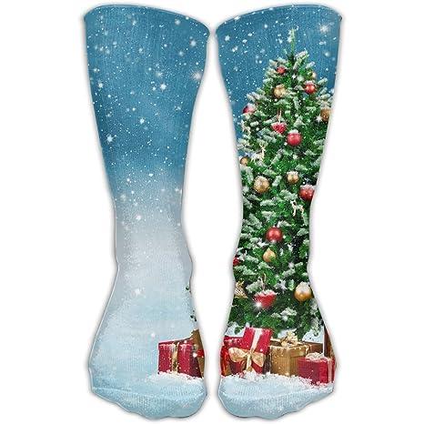 PengYou Calcetines de Navidad para Hombre y Mujer con Diseño de árbol de Navidad en la