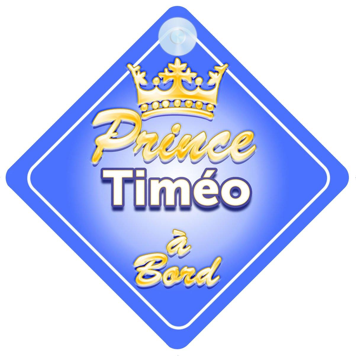Couronne Prince Timéo Signe Pour Voiture Enfant/Bébé à Bord Quality Goods Ltd