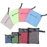 AdventureAustria Mikrofaser Handtücher Schnell trocknende Tücher für Wandern Outdoor Sport Strand Reisen usw - Sehr saugfähig weich & anschmiegsam leichtes Material. Handliche Tasche inklusive.
