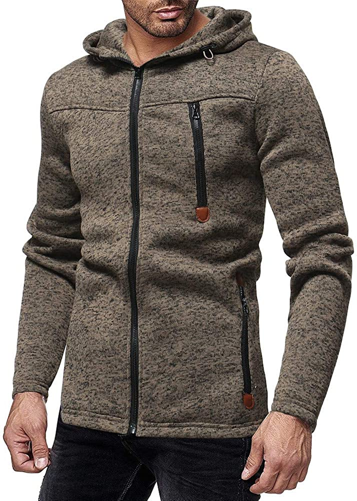 Men Pullover Sweat Slim-Fit SFE Spring Winter Zid Up High Collar Drawstring Hoodie Jackets Warm Sweatshirt with Pocket