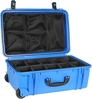 product image for Dark Blue Seahorse SE920 case with Padded dividers and Lid Organizer.