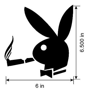 Amazon playboy bunny smoking decal sticker black playboy bunny smoking decal sticker black vinyl decal voltagebd Images