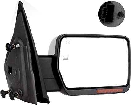 ECCPP Passenger Side View Mirror Replacement fit for 2004-2014 Ford F-150 Power Heated Chrome Puddle Signal Light