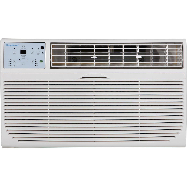 Keystone KSTAT12-1C 12000 BTU 115V Through-the-Wall Air Conditioner with ''Follow Me'' LCD Remote Control