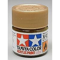 TAMIYA AMERICA 81512 X12 Mini Acrylic, Gold Leaf, 1/3 oz