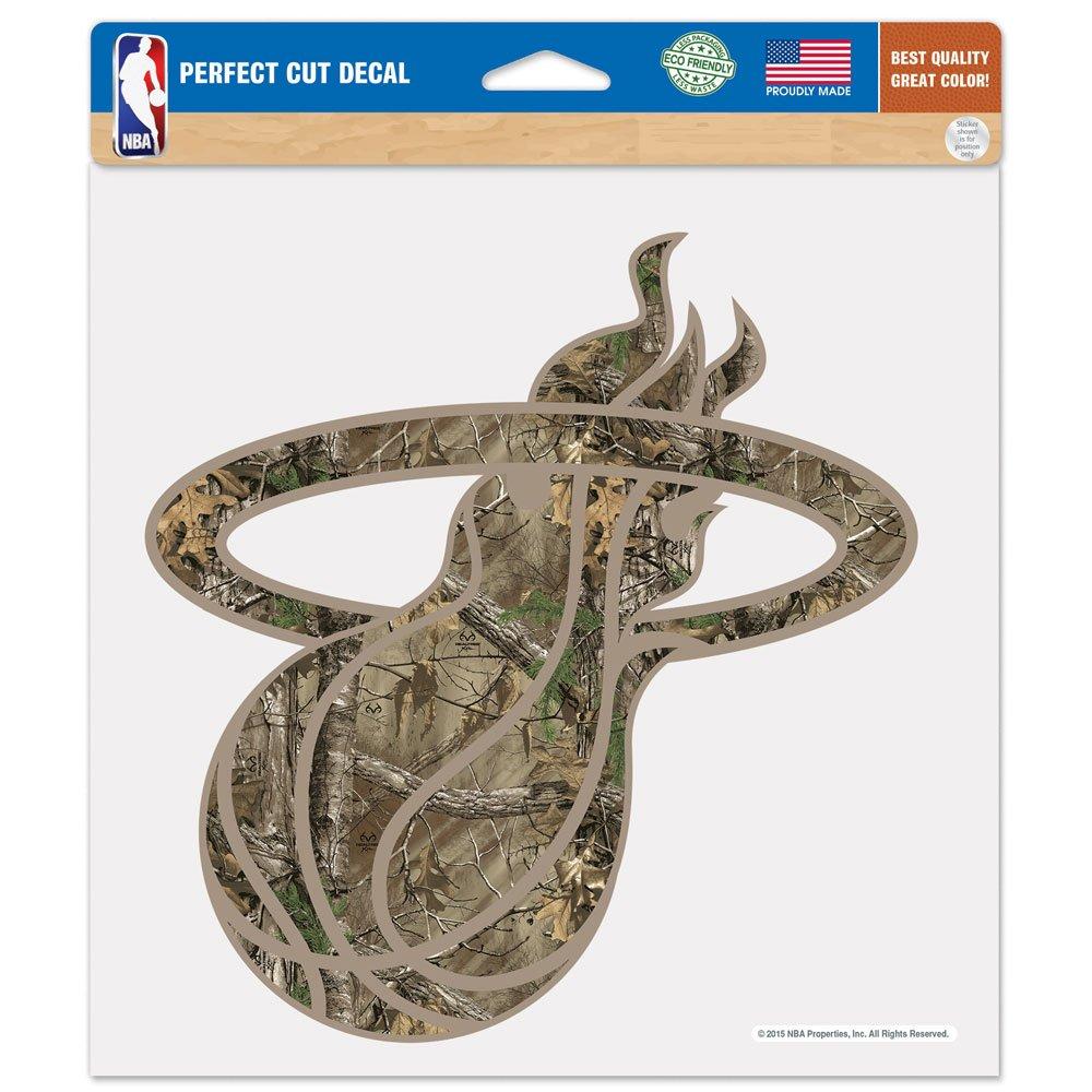 WinCraft NBA Miami Heat Realtree Perfect Cut Color Decal, 8 x 8-Inch