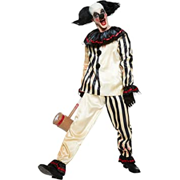 Scary Clown Halloween Costume.New Mens Halloween Scary Clown Suit Fancy Dress Party Costume